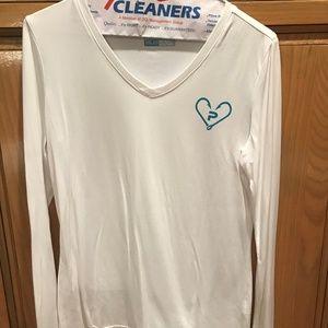 Pelagic White UVA/UVB Solar Protection Shirt, Sz S